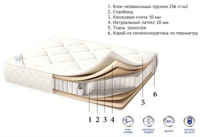 Матрас COCO LATEX BOX SPRING (200x120)